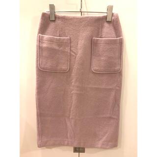 アンレリッシュ(UNRELISH)のUNRELISH  パープルタイトスカート(ひざ丈スカート)