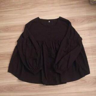 メルロー(merlot)のメルロー 黒のふんわり長袖ブラウス(シャツ/ブラウス(長袖/七分))