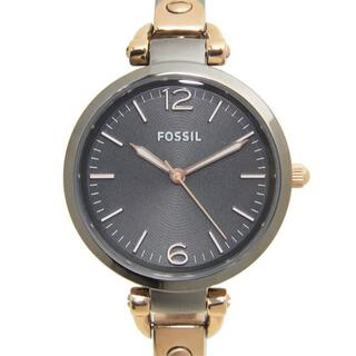 フォッシル(FOSSIL)の新品 フォッシル FOSSIL 腕時計 ジョージア ステンレス グレー ブラック(腕時計)