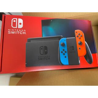 ニンテンドースイッチ(Nintendo Switch)のSwitchネオン 新品未使用 店舗印なし(家庭用ゲーム機本体)