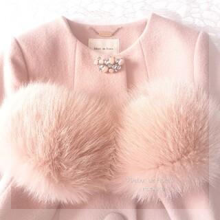 レッセパッセ(LAISSE PASSE)の新品 デビュードフィオレ♡失恋ショコラティエ さえこさんのコート 素敵なピンク(ロングコート)