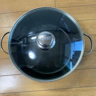 マイヤー(MEYER)のマイヤー 両手鍋ハードアナダイズド24cm ガラス蓋付き(鍋/フライパン)