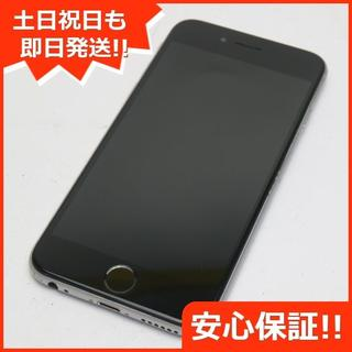 アイフォーン(iPhone)の美品 SIMフリー iPhone6S 64GB スペースグレイ (スマートフォン本体)