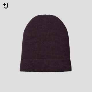 ユニクロ(UNIQLO)のユニクロ +J  カシミヤ ニットキャップ パープル(ニット帽/ビーニー)