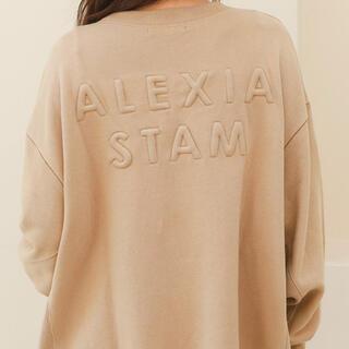 アリシアスタン(ALEXIA STAM)のALEXIASTAM ロゴスウェットシャツ トレーナー(トレーナー/スウェット)