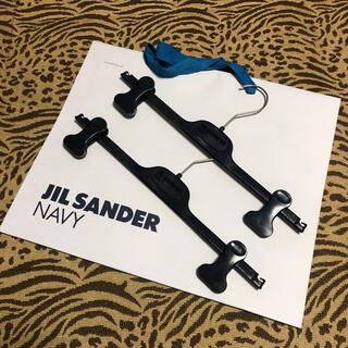 ジルサンダー(Jil Sander)の[非売品‼️]ジルサンダーネイビー  ハンガー 2本セット(ひざ丈スカート)