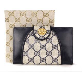 グッチ(Gucci)の【GUCCI】 がま口付き二つ折り財布 GG柄 ヴィンテージ オールドグッチ(財布)