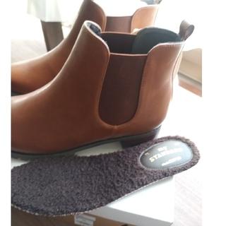 スタディオクリップ(STUDIO CLIP)のstudioCLIP なんでも合わせやすいサイドゴアブーツ 25、5cm(ブーツ)