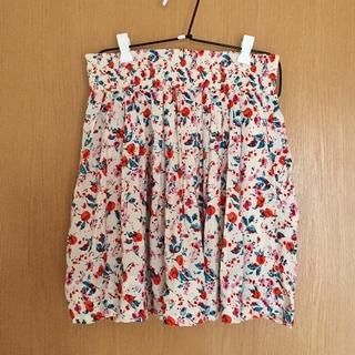 サンタモニカ(Santa Monica)の水彩画風花柄スカート(ひざ丈スカート)
