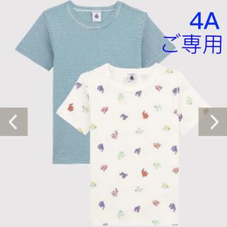 プチバトー(PETIT BATEAU)の✳︎ご専用✳︎ 新品未使用 プチバトー 半袖 Tシャツ 2枚組 4ans(Tシャツ/カットソー)