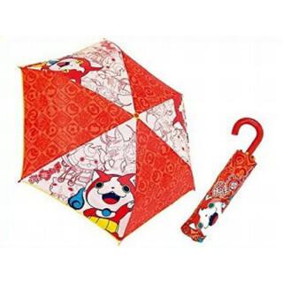 【新品】妖怪ウォッチ ジバニャン 折りたたみ傘 赤 レッド キッズ(傘)