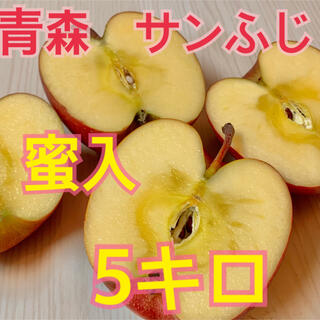 青森 サンふじ 蜜入 りんご 5キロ(フルーツ)