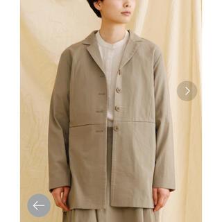メルロー(merlot)の新品タグ付き MERLOT IKYU コットンテーラードジャケット (テーラードジャケット)