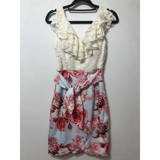 デイジーストア(dazzy store)のキャバドレス タイトドレス 花柄ドレス(ミニワンピース)