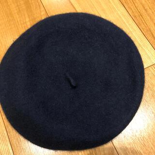 グローバルワーク(GLOBAL WORK)の【最終SALE】美品 ベレー帽 グローバルワーク 明日まで 大特価 ネイビー (ハンチング/ベレー帽)