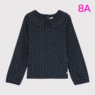 プチバトー(PETIT BATEAU)の新品未使用 プチバトー 衿付き カットソー 8ans(Tシャツ/カットソー)