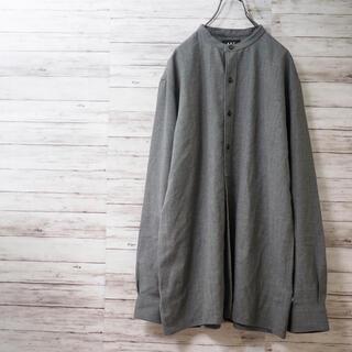 アーペーセー(A.P.C)のフランス製 00AW A.P.C. プルオーバー バンドカラーウールシャツ(シャツ)
