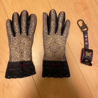 アナスイ(ANNA SUI)のANNA SUI レザーグローブandグローブホルダーセット(手袋)