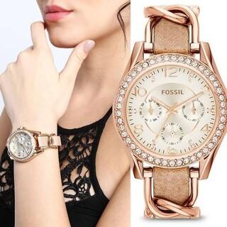 フォッシル(FOSSIL)のFOSSil 腕時計 新品 ピンクゴールド(腕時計)