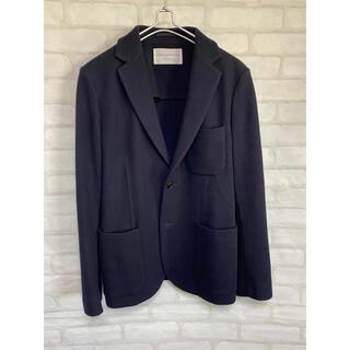 トゥモローランド(TOMORROWLAND)の美品 トゥモローランド カシミア混 テーラードジャケット ネイビー サイズ48(テーラードジャケット)