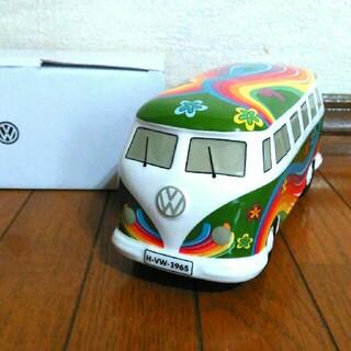 Volkswagen - フォルクスワーゲン車の貯金箱★カラフルお花