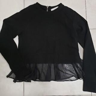 ルシェルブルー(LE CIEL BLEU)のルシェルブルー LE CIEL BLEU 35 黒 トップス フリル ペプラム(シャツ/ブラウス(長袖/七分))