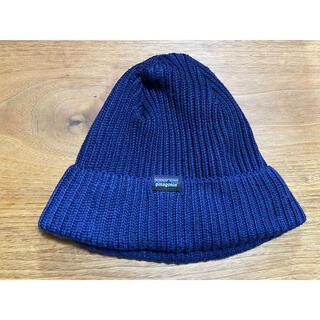 パタゴニア(patagonia)のPatagonia パタゴニア ニット帽 ニットキャップ 紺(ニット帽/ビーニー)