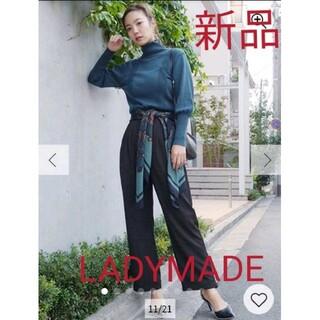 レディメイド(LADY MADE)の新品未開封!LADYMADE リラックスタックパンツ  ブラック Mサイズ(カジュアルパンツ)
