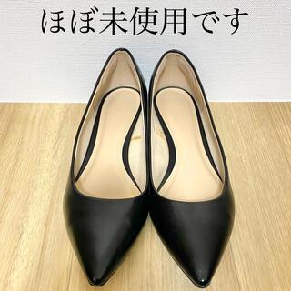 ジーユー(GU)の美品♪   GU   マシュマロローヒールパンプス ブラック(ハイヒール/パンプス)