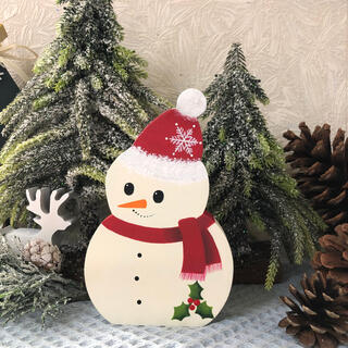 【新作】北欧 クリスマス の可愛い スノーマン オブジェ(大)【雪だるま】(インテリア雑貨)