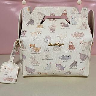 フランシュリッペ(franche lippee)のフランシュリッペ ねこ図鑑 ケーキ 箱 バッグ ハンド ショルダー  猫 ネコ(ショルダーバッグ)