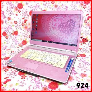 エヌイーシー(NEC)の可愛いピンク♪ノートパソコン本体♪初心者も安心♪Windows10 (ノートPC)