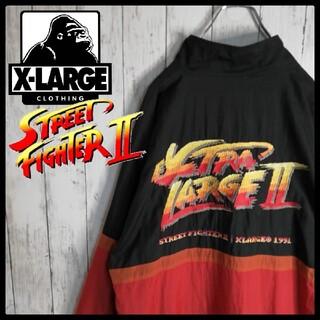 XLARGE - 【即完品】【XLARGE×スト2】【ゴツ刺繍】【希少コラボ】ナイロンジャケット