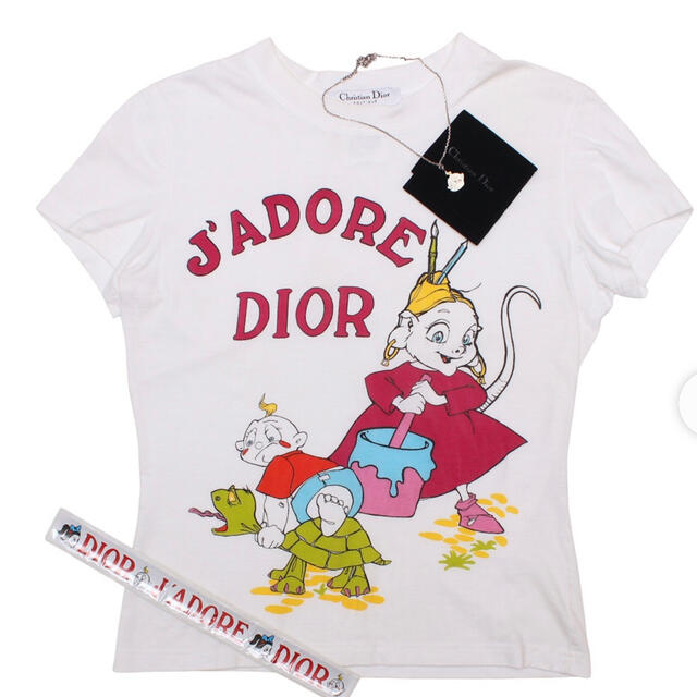 Christian Dior(クリスチャンディオール)のChristian Dior ディオール  Tシャツ 限定品 新品 希少レア☆ レディースのトップス(Tシャツ(半袖/袖なし))の商品写真