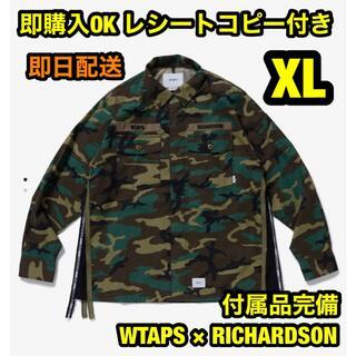 ダブルタップス(W)taps)のXL ダブルタップス リチャードソン ジップ付バッズシャツ Richardson(シャツ)
