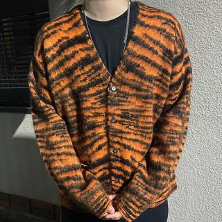 シュプリーム(Supreme)のsupreme Brushed mohair cardigan 20aw(カーディガン)