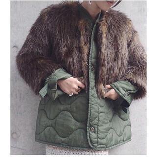 ロキエ(Lochie)のファージャケット vintage フェイクファーコート(毛皮/ファーコート)