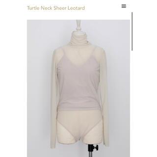 ロザリームーン(Rosary moon)のturtle neck sheer leotard(カットソー(長袖/七分))
