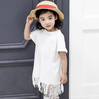 韓国子供服 フリンジデザインワンピース(ワンピース)
