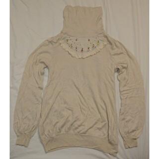 フランシュリッペ(franche lippee)のフランシュリッペ タートルネック ニット セーター アイボリー M 刺繍(ニット/セーター)