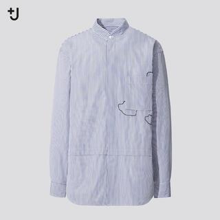 ユニクロ(UNIQLO)のユニクロ ジルサンダー  スーピマコットン オーバーサイズシャツ (長袖・雲)(シャツ)