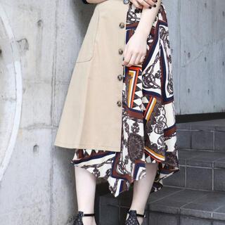 ムルーア(MURUA)のMURUA スカーフドッキングスカート(ひざ丈スカート)