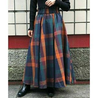 ティップトップ(tip top)の新品☆大柄チェックフレアロングスカート(ロングスカート)