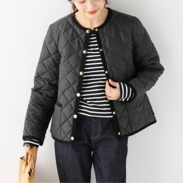 IENA(イエナ)のIENA 【TWW】ARKLEYキルティングノーカラーコート レディースのジャケット/アウター(ブルゾン)の商品写真