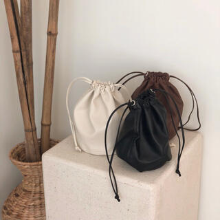 lawgy / leather purse (white)(ハンドバッグ)