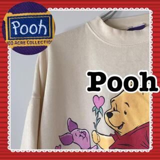 クマノプーサン(くまのプーさん)のUSA 古着 海外 ディズニー プー Pooh メンズ スウェット トレーナー(スウェット)