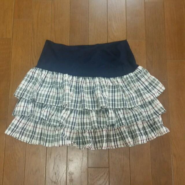 MERCURYDUO(マーキュリーデュオ)のマーキュリーデュオチェック3段フリルSK レディースのスカート(ミニスカート)の商品写真