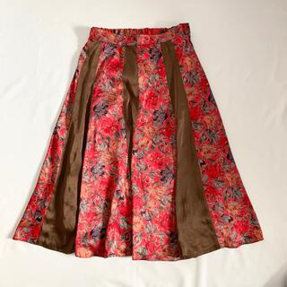 ロキエ(Lochie)のVintage 90s レトロ花柄スカート(ロングスカート)