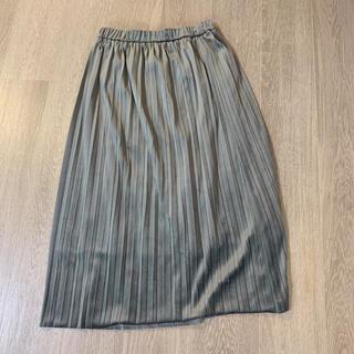 マルティニークルコント(martinique Le Conte)のベロア調プリーツスカート(ロングスカート)
