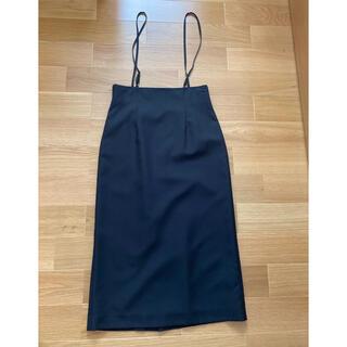 アーバンリサーチロッソ(URBAN RESEARCH ROSSO)のアーバンリサーチ ロッソ    サロペットスカート 黒(ロングスカート)